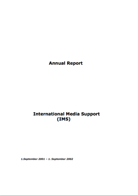 IMS Annual Report 2001-2002
