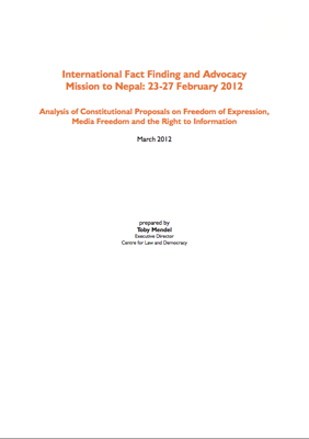 International Fact Finding and Advocacy Mission to Nepal: 23-27 February 2012