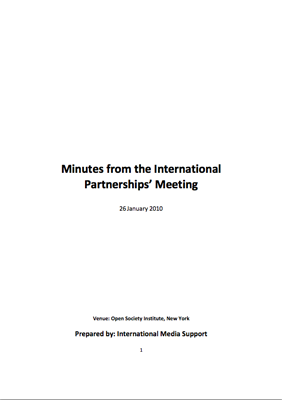 International Partnership Meeting 2010