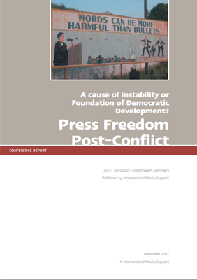 Conference report: Press Freedom Post-Conflict