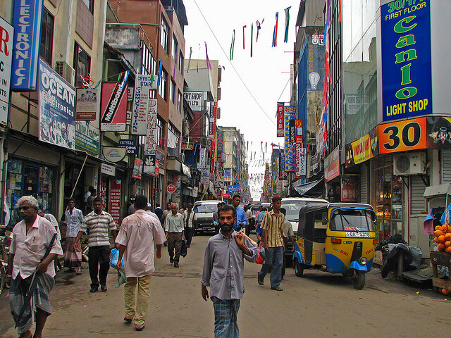 Down-town market in Pettah, Sri Lanka. Photo: Mckay Savage