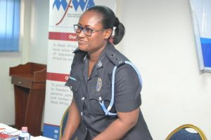 ASP Effia Tenge, Public Relations Officer for the Accra Regional Police Command