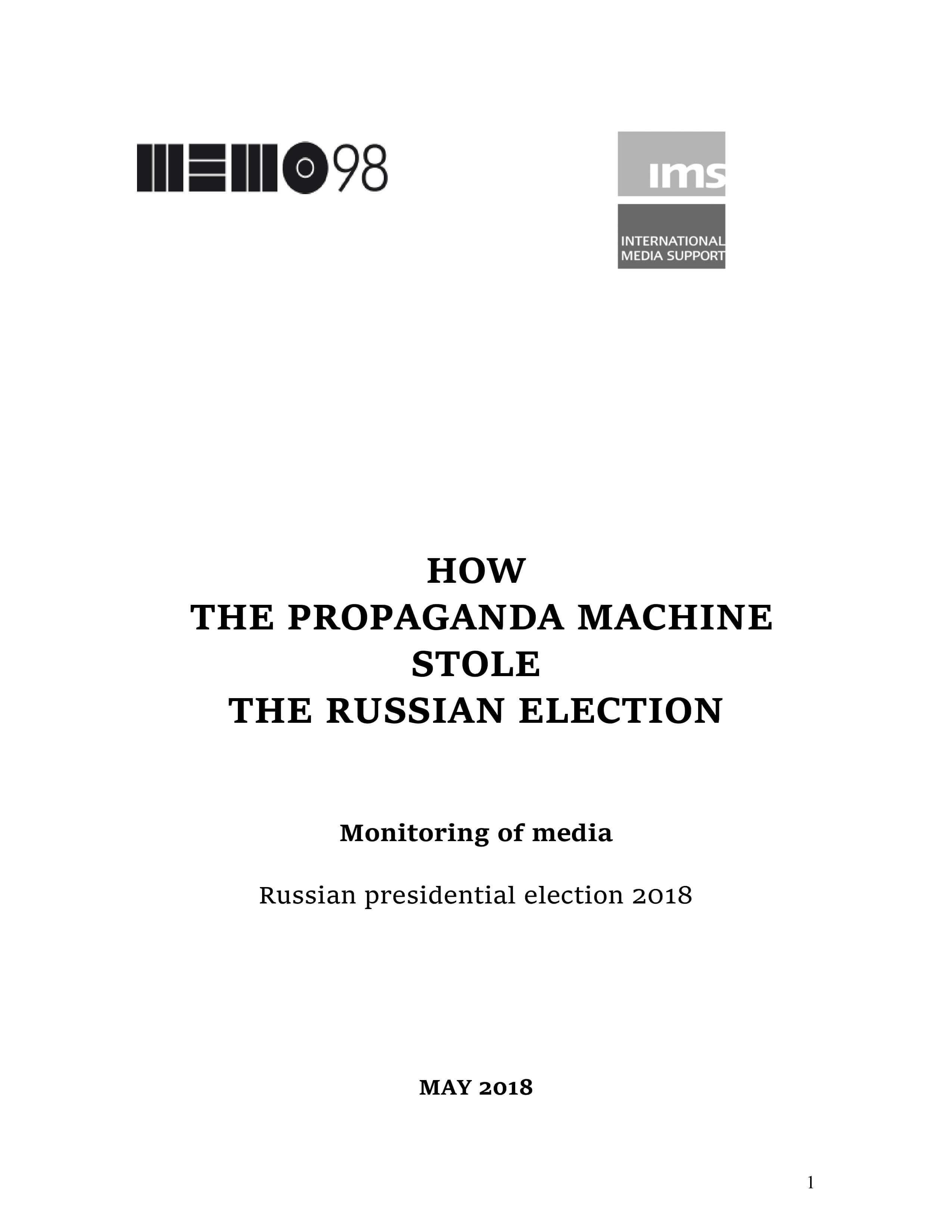 How the propaganda machine stole the Russian election