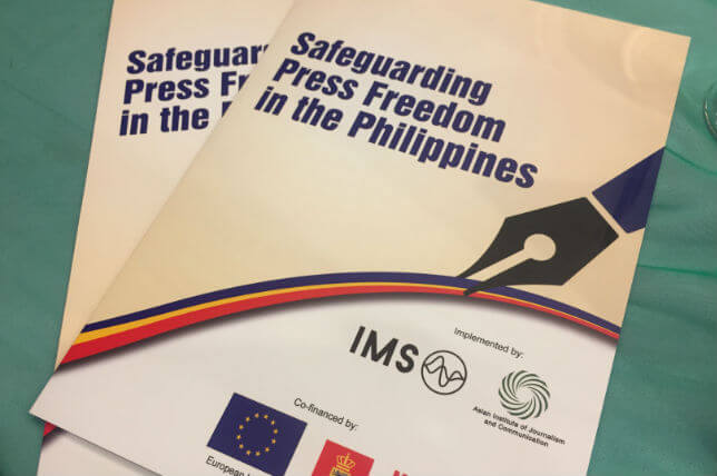 Kick-off of national effort to address the safety of journalists in the Philippines
