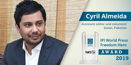 Pakistan's Cyril Almeida named 71st IPI Press Freedom Hero
