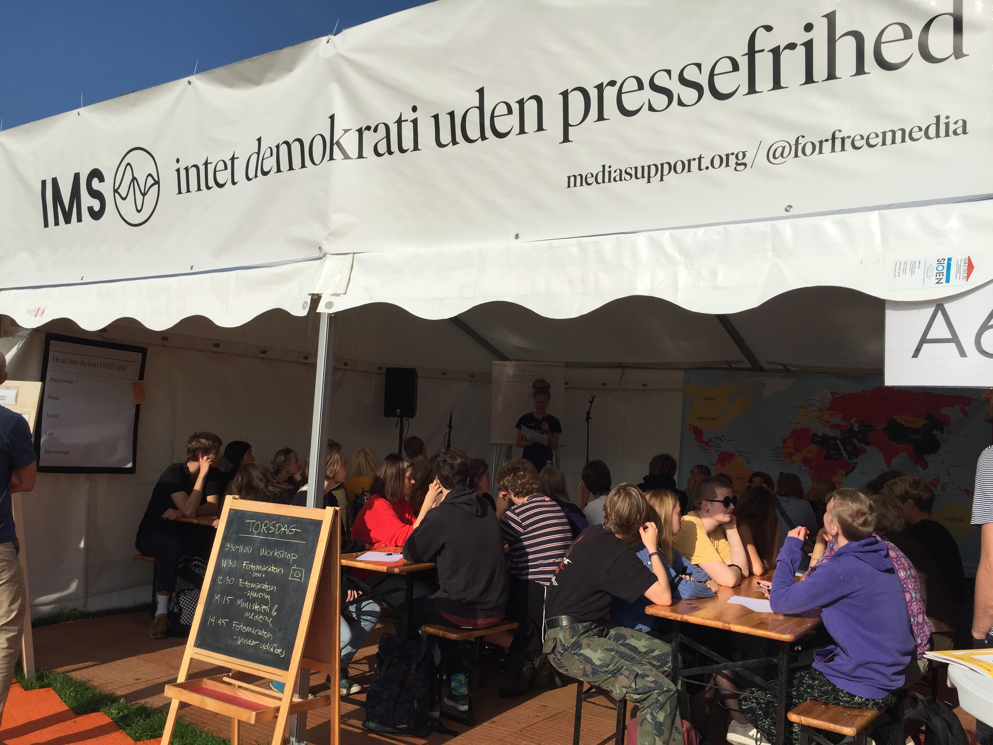 IMS talks about media and tabooes at youth festival in Copenhagen