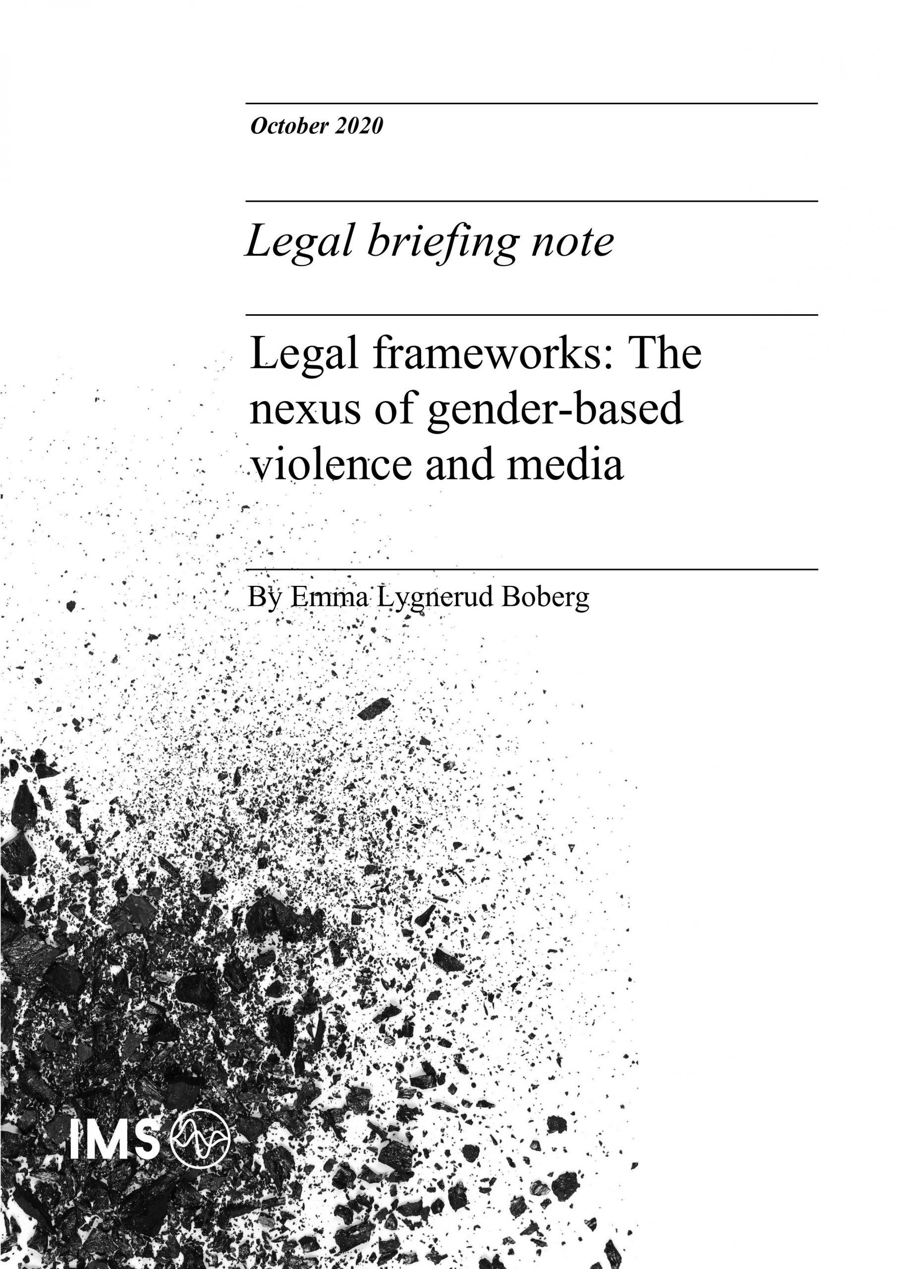 Legal frameworks: The nexus of gender-based violence and media