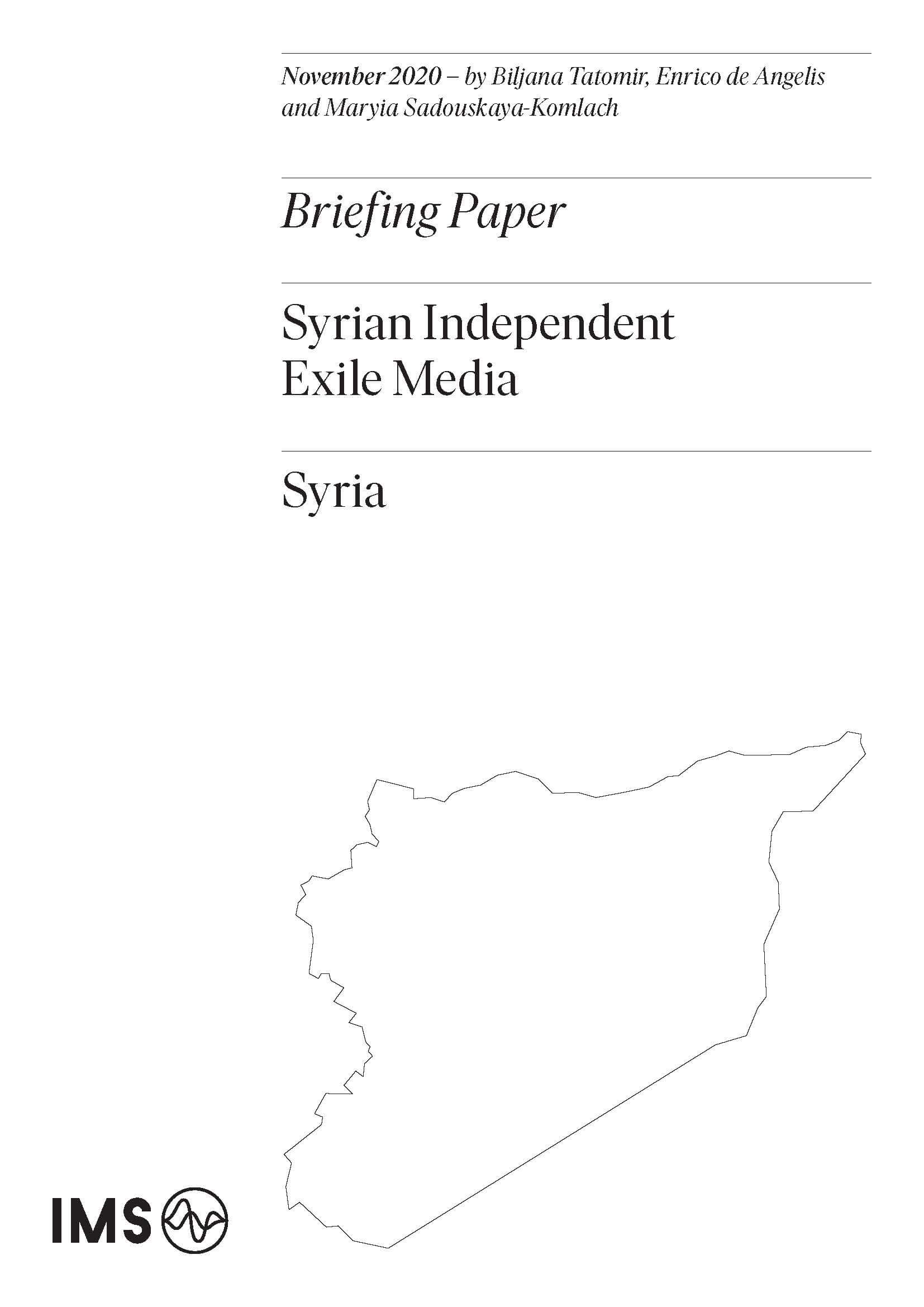 Syrian independent exile media