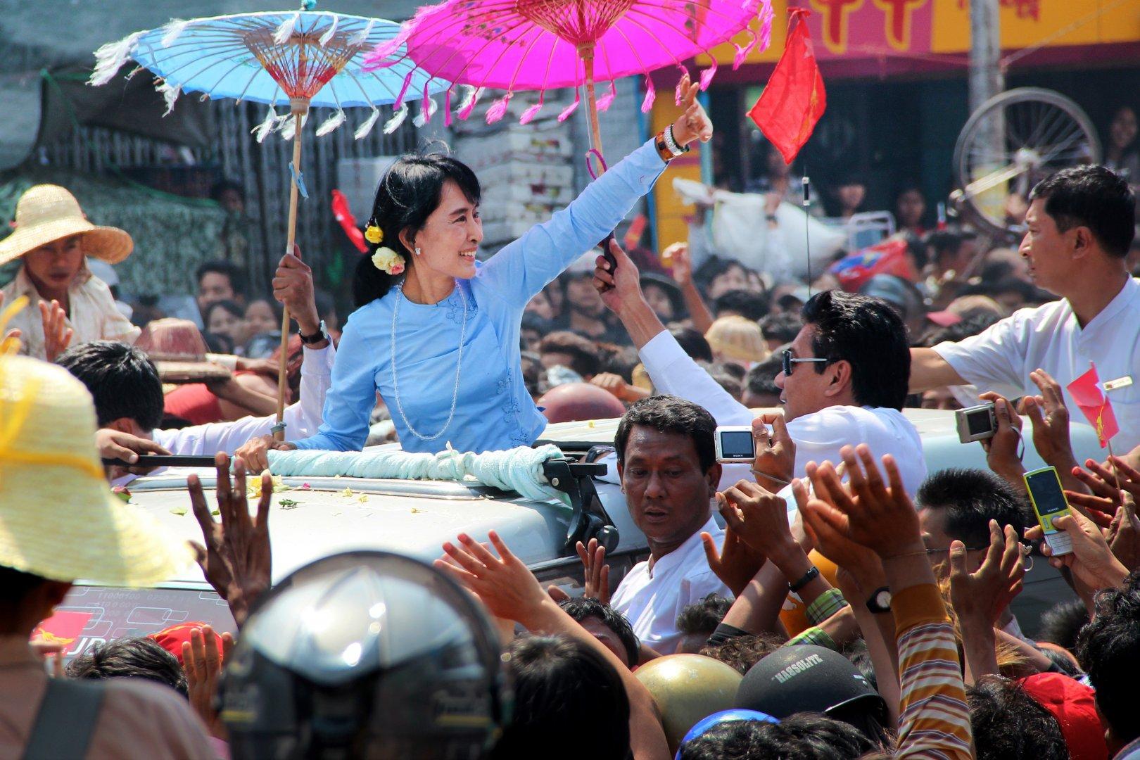 Aung San Suu Kyi in Mandalay Myanmar