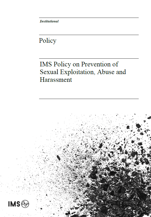 IMS Policy on Prevention of Sexual Exploitation, Abuse and Harassment