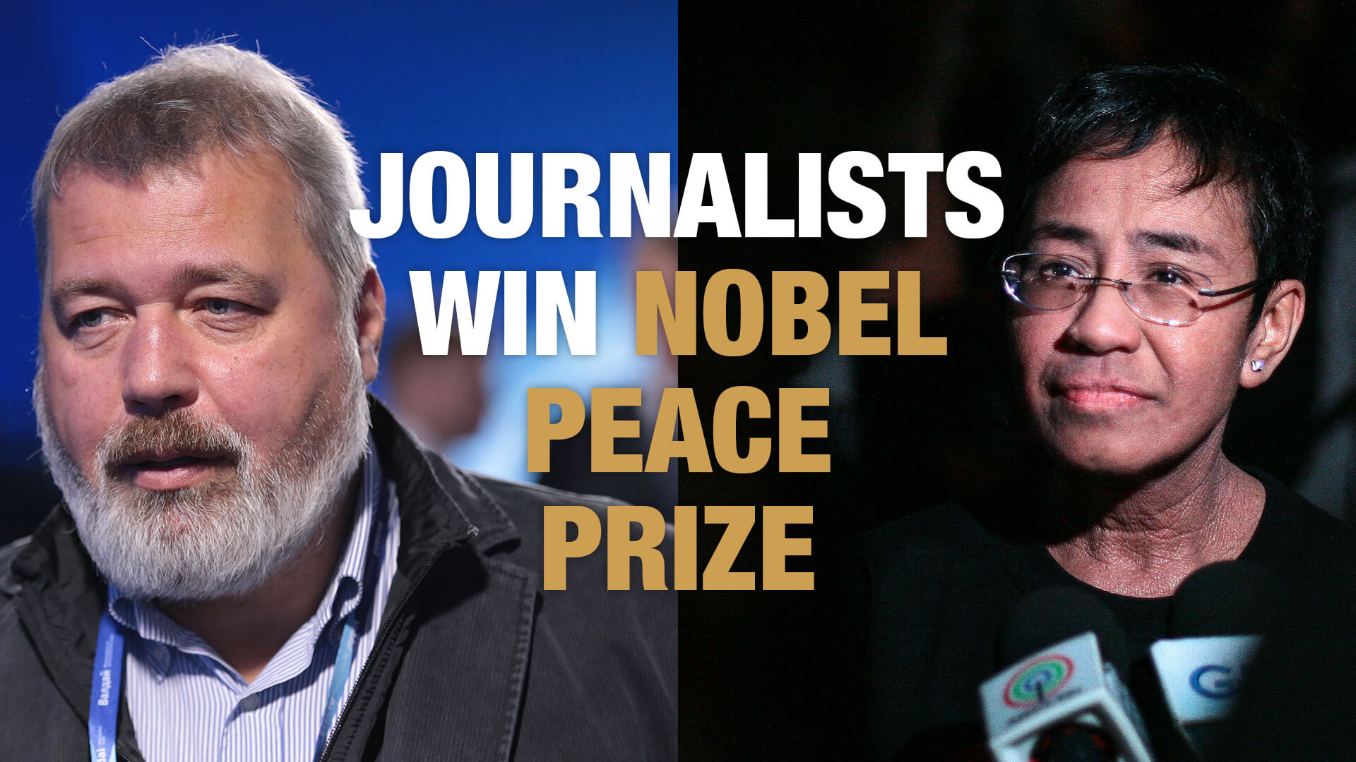 Press freedom heroes awarded the Nobel Peace Prize